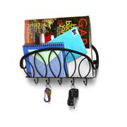 Spectrum Diversified Leaf Wall Mount Letter Holder & Key Rack