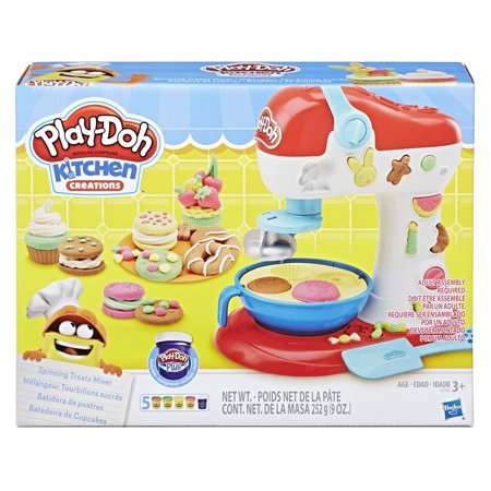 Play-Doh Kitchen Creations Spinning Treats Mixer Food Set with 5 Cans of Dough (Playdough Mats Halloween)