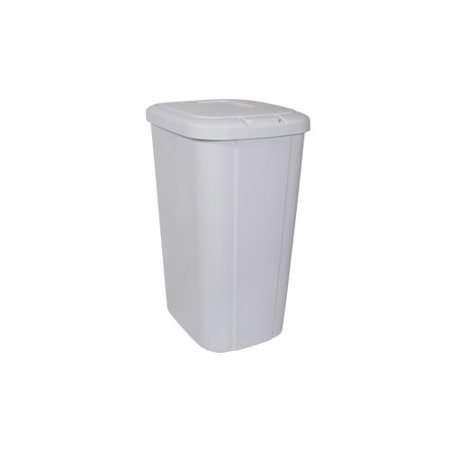 Hefty Touch-Lid 13.3-Gallon Trash Can, White