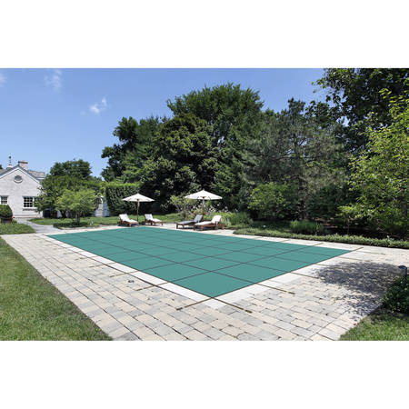 Water Warden Solid Safety Pool Cover for In Ground Pools, With Center Drain Panel