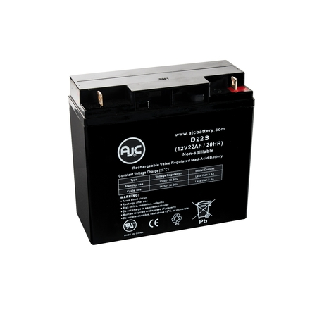 Rascal 320 PC 12V 22Ah Wheelchair Replacement Battery - This is an AJC Brand