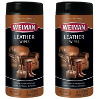 (2 Pack) Weiman Leather Wipes, 30 Ct