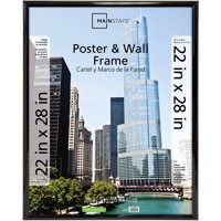 """Mainstays Trendsetter 22"""" x 28"""" (Outside Dims: 23"""" x .75"""" x 29"""") Poster & Wall Frame, Black Finish"""