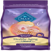 Blue Buffalo BLUE Healthy Aging Mature Dry Cat Food, Chicken & Brown Rice Recipe, 7-lb