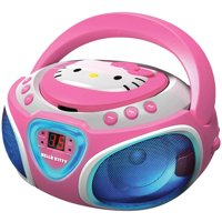 Hello Kitty KT2025 CD Boom Box with AM/FM Radio and LED Light Show