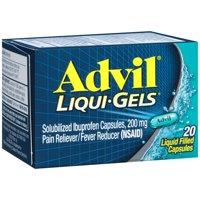 Advil Liqui-Gels (20 Count) Pain Reliever / Fever Reducer Liquid Filled Capsule, 200mg Ibuprofen, Temporary Pain Relief