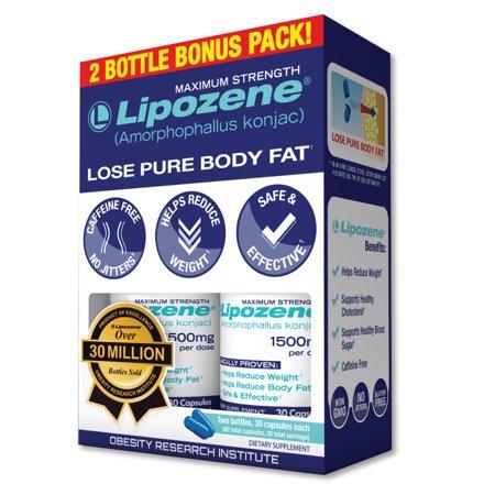 Lipozene Amorphophallus Konjac Maximum Strength Diet Pills 60ct