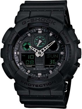 G-Shock Military Black GA100MB-1A 3-Eye Ana-Digi Wristwatch