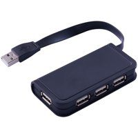 Onn High-Speed Transmission 4-Port 2.0 Technology Usb Hub, Black
