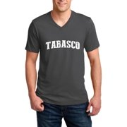 Tabasco Map What to do in Tabasco Mexico Men V-Neck Shirts Ringspun