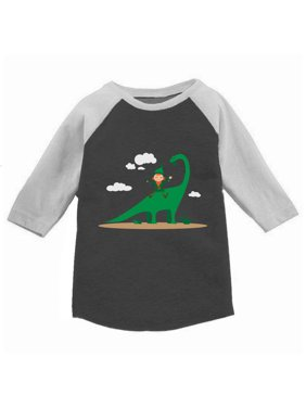Awkward Styles Leprechaun Dinosaur Toddler Raglan St. Patrick's Day Jersey Shirt Saint Patrick Shirt Kids St. Patrick's Day Outfit St. Patrick Shirt Irish Gifts for Kids Cute Dinosaur Tshirt