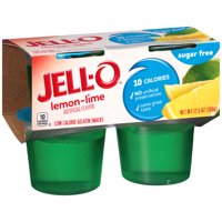 Jell-O Ready To Eat Lemon Lime Sugar Free Gelatin, 12.5 oz Sleeve (4 Cups)