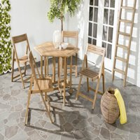 Safavieh Kerman Outdoor Modern Foldable 5 Piece Dining Set