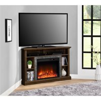 "Ameriwood Home Overland Electric Corner Fireplace for TVs up to 50"" Wide Espresso"