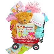 G Is For Girl Baby Wagon & Gift Basket