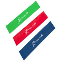 ProsourceFit Loop Resistance Bands Set of 3, 2-inch Wide for Leg Exercises and Physical Therapy