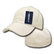 4bef107ab88 DECKY Fitted Vintage Washed Polo Hats Hat Caps Cap For Men Women Cream