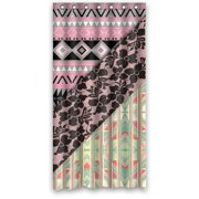 HelloDecor Aztec Black Girly Floral Lace Shower Curtain Polyester Fabric Bathroom Decorative Size 36x72 Inches