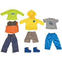 My Life As Day-in-the-Life Winter Mountaineer Theme Clothing Set, Designed for 18-Inch Dolls