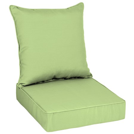 Better Homes & Gardens Mint Sage 48 x 24 in. Outdoor Deep Seat Cushion Set with EnviroGuard ()
