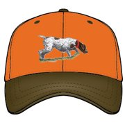 044062122 Hunting Dog Cap, Blaze Orange/ Brown, Adjustable Closure