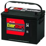 EverStart Plus Lead Acid Automotive Battery, Group 34