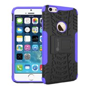 iPhone 6s Case - [TRAC Armor] Hybrid Dual Layer Rugged Case Cover with Kickstand