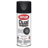 Krylon® Dual Superbond Paint + Primer Flat Black Spray Paint, 12-Oz