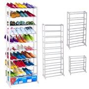 Oakeskaran 30 Pair 10 Tier Shoe Rack Space Saving Shoe Organizers Storage Free Standing Shoe Tower Shelf