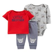 Child Of Mine By Carter's Long SleeveBodysuit, T-Shirt & Pants, 3pc Outfit Set (Baby Boys)