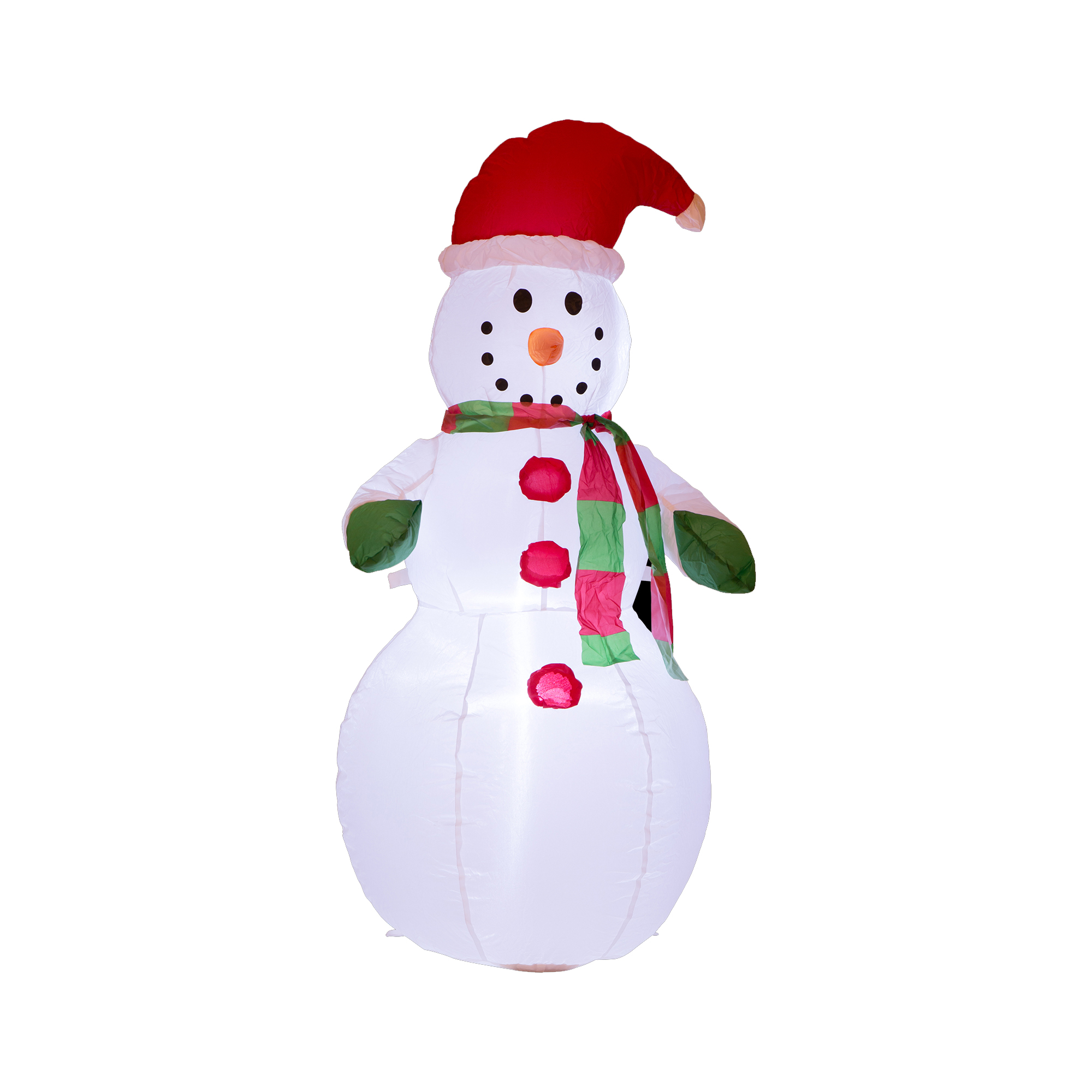 Glitzhome 3.94FT H Outdoor Winter New Year Christmas Lighted Inflatable Snowman Décor Decorations