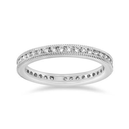 1/2ct Channel Diamond Eternity Wedding White Gold Ring (3mm Channel Diamond Eternity Ring)