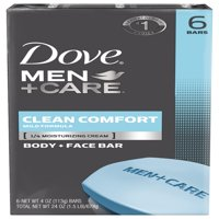 Dove Men+Care Body and Face Bar Clean Comfort 4 oz, 6 Bar