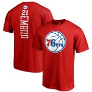 c1025a432 Joel Embiid Philadelphia 76ers Fanatics Branded Team Backer Name   Number T- Shirt - Red