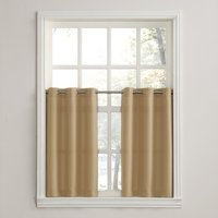 No. 918 Montego Window Curtain Valance/Kitchen Curtains, Set of 2