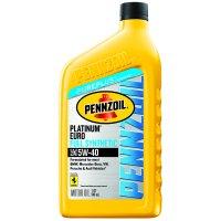 Pennzoil Platinum Euro 5W-40 Motor Oil, 1 qt