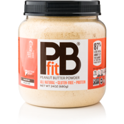 PBfit Peanut Butter Powder for Shakes and Baking, All-Natural Gluten-Free Non-GMO Vegan Protein, 24 Oz. Jar