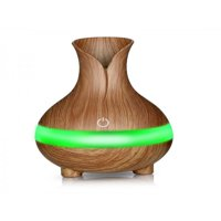 Nicesee 300ML USB Portable Mini Air Humidifier Wood Gra Ultrasonic Essential Oil Diffuser
