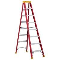 Louisville Ladder L-3016-08 8 ft. Fiberglass Step Ladder, Type IA, 300 lbs. Load Capacity