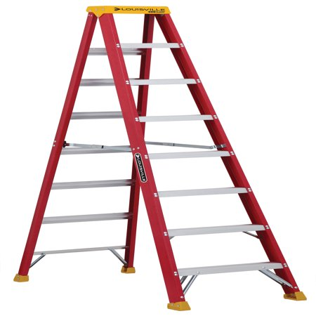 3 Step Swing Ladder - Louisville Ladder L-3016-08 8 ft. Fiberglass Step Ladder, Type IA, 300 lbs. Load Capacity