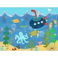 Oopsy Daisy - Underwater Submarine Canvas Wall Art 40x30, Amy Schimler-Safford