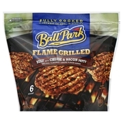 Ball Park Flame Grilled Beef with Cheese & Bacon Patty, 6 count, 16.2 oz