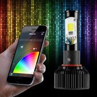 2 in 1 RGB Demon Eye + LED Headlight Bulb Kit XKchrome App Controlled: H13