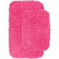 Jazz Shaggy Nylon 2-Piece Washable Bathroom Rug Set
