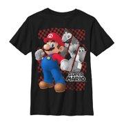 9e08a4d0cc2ef Nintendo Boys' Super Mario Race Flag T-Shirt