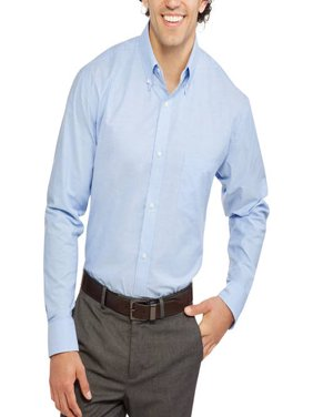 George Men's Long Sleeve Oxford Shirt