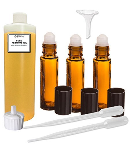 Grand Parfums Perfume Oil Set - Tabu Type Body Oil For Women Scented Fragrance Oil - Our Interpretation, with Roll On Bottles and Tools to Fill Them (1 Oz) (Philosophy The Fragrance Perfume Oil)