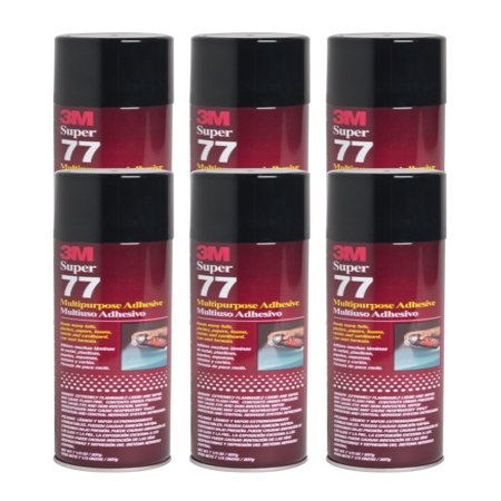 QTY 6 3M 7.3 oz SUPER 77 SPRAY Glue Adhesive Great for School Science Projects Foam Cardboard for $<!---->