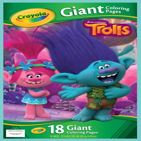 Crayola Trolls Giant Coloring Pages, 18 Sheets For Ages 3+ - Cat Coloring Sheet