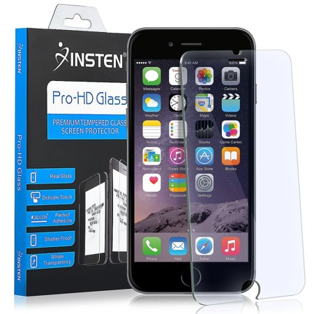 iPhone 8 Glass Screen Protector Tempered Glass iPhone 7 Screen Protector by Insten Clear Tempered Glass Screen Protector LCD Film Shield for Apple iPhone 8 iPhone 7 (Anti-Scratch)(Anti-Fingerprint)